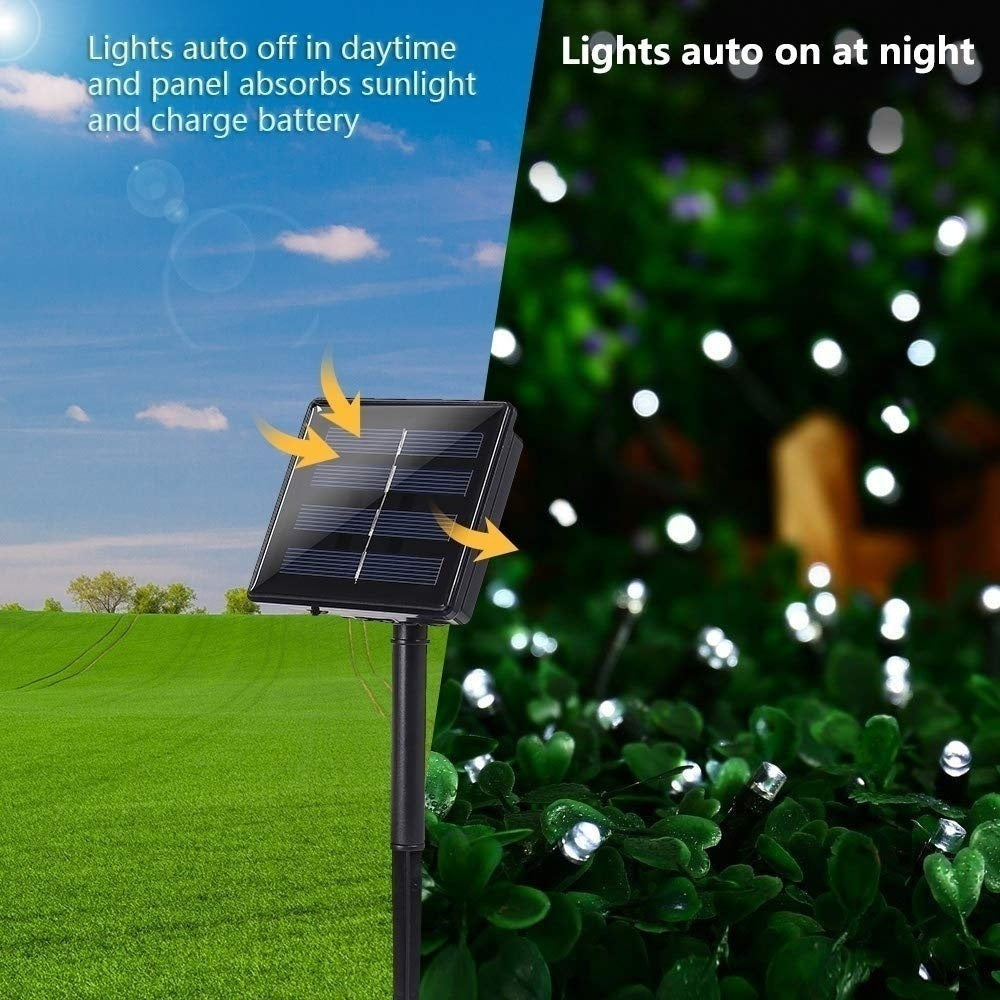 LED Solar String Lights, 100/200 LEDS Solar Lamps Power LED String Garlands Lights Solar Garden Christmas Lights Holiday Outdoor Fairy Lights Waterproof