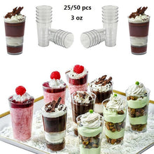 Load image into Gallery viewer, Jelly Party 3oz Dessert Shooters Drink Plastic Glass Shot Cups Mini Small