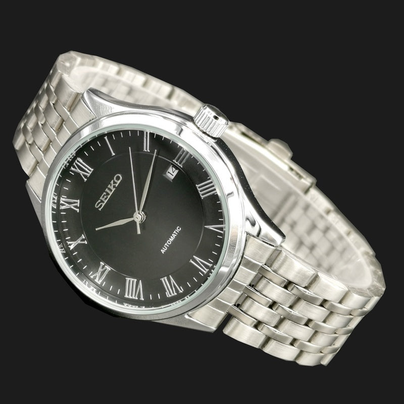 Fashion Mechanical Watch Automatic Self Wind Watches Men Stainless Steel Wrist Watch with Box