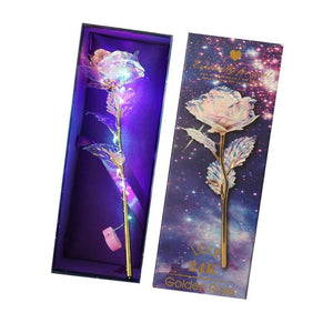 Valentine's Day Lighting Rose 24K Foil PlatedGold Rose Foreverlove Wedding Decor