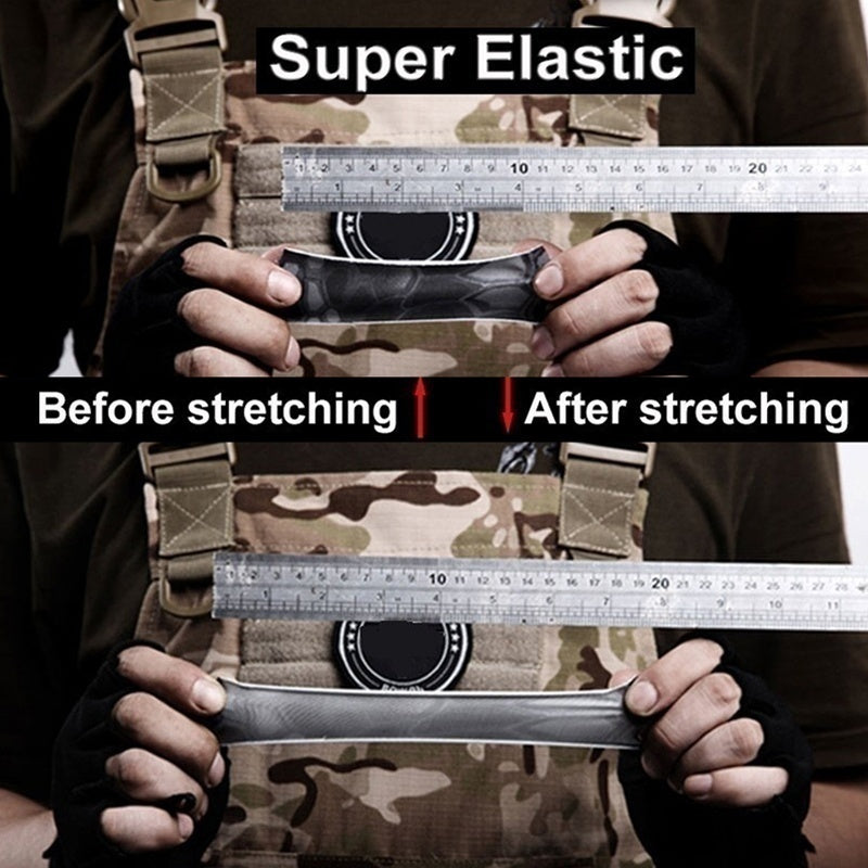 DIY Outdoor Military Self Adhesive Camouflage Tape Patch Super Elastic Tape for Camping Combat Hunting Fishing Field Training