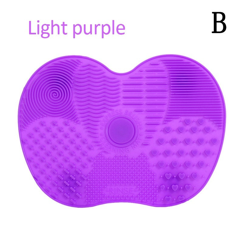 Multifunctional Silicone Scrubbing Pad Makeup Brush Cleaning Pad Beauty Brush Scrubbing with Suction Pad Cosmetic Cleaner Scrubber Tools