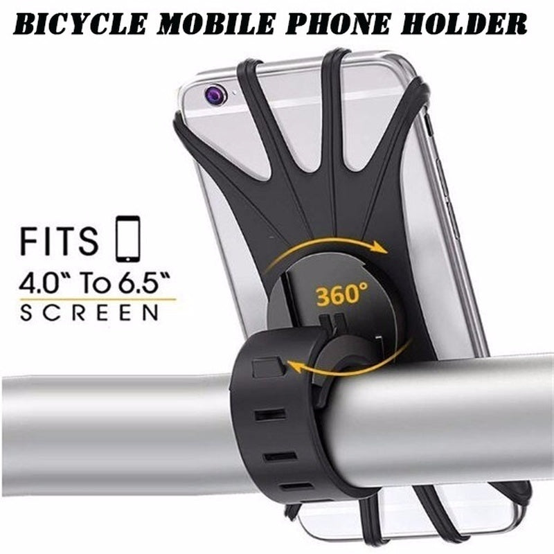 1PC Universal Bicycle Mobile Phone Holder Silicone Motorcycle Bike Handlebar Stand Mount Bracket Mount Phone Holder