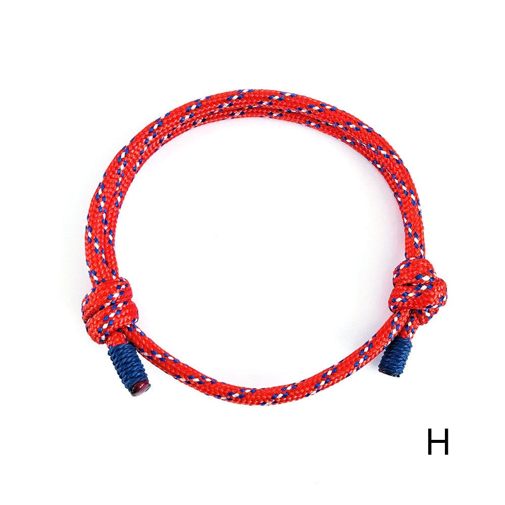 Shoelace Style Adjustable Survival Rope Bracelet for Women Men Outdoor Sports Climbing The Mountains Jewelry