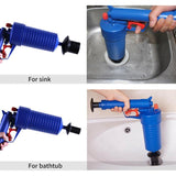 auli? Pump Action Power Pressure Cleaner Floor Drain Toilet Plug Sink Plunger Dredge Tool