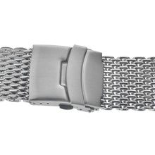 Load image into Gallery viewer, Double Button Stainless Steel Solid Shark Watch Strap High-end Milan Mesh Weaving 18 20 22 24mm