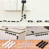 20/40pcs Desk Wall Cable Clip Buckle Cord Clamps Self-adhesive Cable Clips Winder Wire Tie Fixer Fastener Holder Organizer