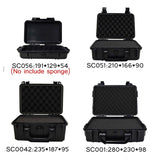 Waterproof Safety Instruments Safetly ABS Tool Case Box Sealed Camping Traveling Protective Storage Case Dry Box