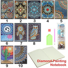 Load image into Gallery viewer, DIY Flower Special Shaped Diamond Painting 60 Pages A5 Notebook Diary Book
