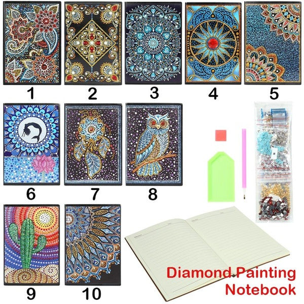 DIY Flower Special Shaped Diamond Painting 60 Pages A5 Notebook Diary Book