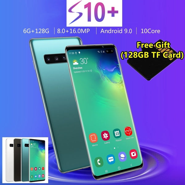 2019 Latest High Quality 6.5 Inch AMOLED Screen 4G Smartphone -Face and Fingerprint Unlock Android 9.0 Full Screen 10 Cores Cellphone