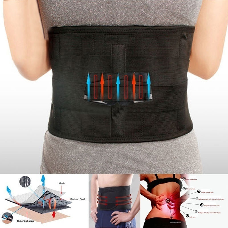 Health Back Wellness Heat Body Braces Back Magnetic Back Support Belt Brace Pain Relief Belt Brace Lumbar Waist Support Lower Back Support Belt Fashion Accessory Health Care