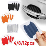 12/8/4Pcs Car Door Sticker Scratches Resistant Cover Auto Handle Protection Film Exterior Accessory