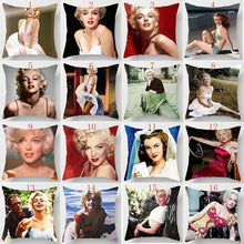 Load image into Gallery viewer, Fashion beauty  Marilyn Monroe  pillow cases two sides printing pattern pillowcases cover square Pillow case pillow covers size 45cm*45cm