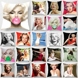 Fashion beauty  Marilyn Monroe  pillow cases two sides printing pattern pillowcases cover square Pillow case pillow covers size 45cm*45cm