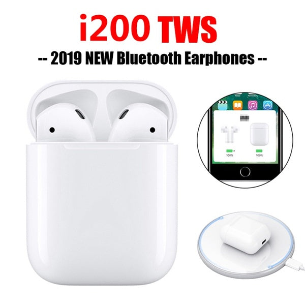 i200 TWS Wireless Charging Headset Bluetooth 5.0 6D Bass Earphone With Charging Box