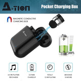 A-TION X/Z1 TWS Earphones Wireless Bluetooth Headset Earphone wtih Charging Box Hand-free Calling 5D Stereo Headphone CVC 8.0 Noise Cancelling