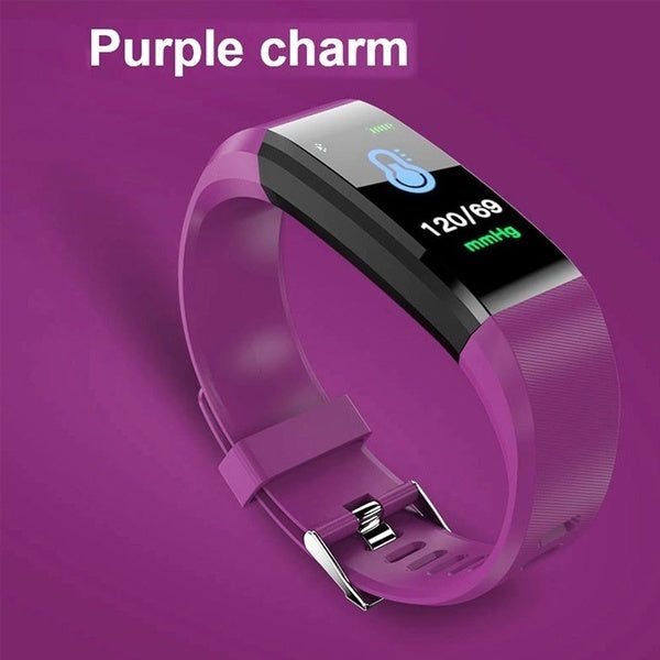 115 Plus Smart Bracelet Fitness Tracker Heart Rate Blood Pressure Monitor Smart Wristband Bluetooth Smart Watch