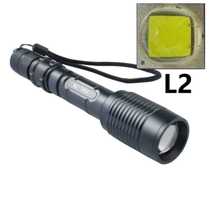 2019 New High Bright CREE XM-L2 Rechargeable LED Flashlight Torch + 2x18650 Battery + Charger for Outdoor
