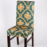 High Quality Removable Short Dining Chair Cover Soft Milk Silk Spandex Stretch Printing Chair Cover Slipcover Chair Seat Covers Banquet Decoration