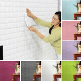 Creative 3D Wallpaper PE Foam DIY Wall Stickers Home Decoration Wall Decor