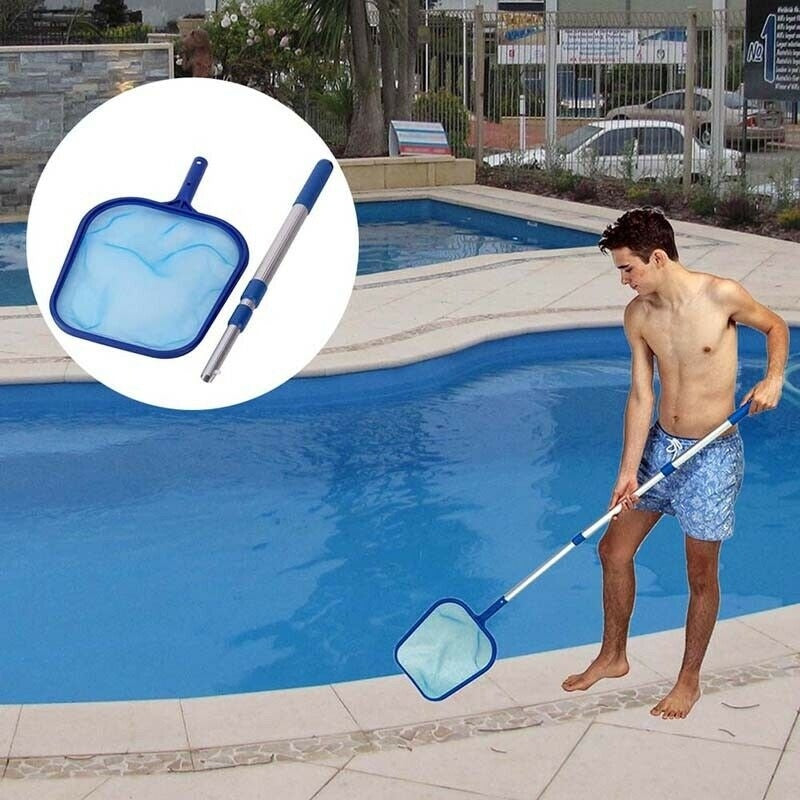 Swimming Pool Nets With Aluminum Telescopic Rod Pool Skimmer Cleaning Tool
