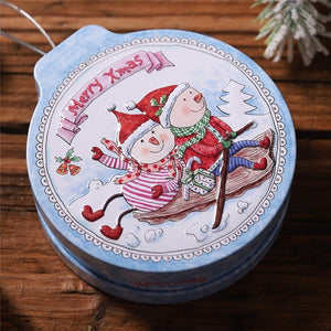 8 Styles Christmas Mini Candy Box Small Storage Cans Kid Xmas Candy Box