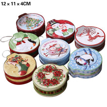 Load image into Gallery viewer, 8 Styles Christmas Mini Candy Box Small Storage Cans Kid Xmas Candy Box