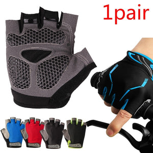 Fingerless Cycling Gloves Safe Breathable Lightweight Riding Racing Equipment Comfortable & Durable Antislip Half Finger Gloves Mountain Bike Bicycle Hand Protector