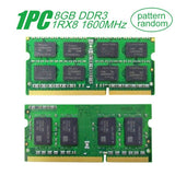 1*For Samsung SODIMM 8GB DDR3 1RX8 PC3L-12800S 1600MHz Memory Laptop RAM