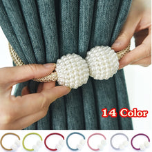Load image into Gallery viewer, 14 Colors Shiny Pearl Magnetic Curtain Clip Curtain Holders Tieback Buckle Clips Hanging Ball Buckle Tie Back Curtain Accessories Home Decor