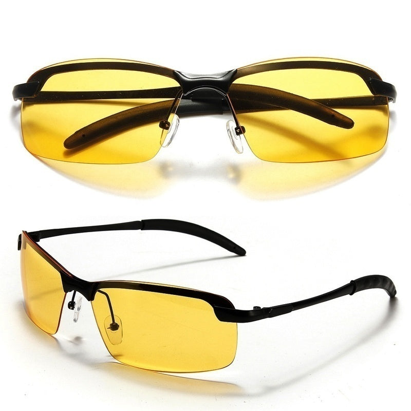 Yellow High-end Night Vision Driving Glasses Polarized UV Sunglasses