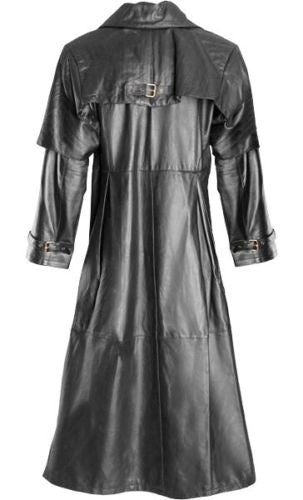Mens Coat Long Jacket  leather goth steampunk gothic van helsing matrix trench coat