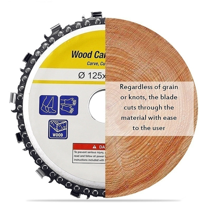 Professional 5 Inch / 4 Inch Wood Grinder Disc and Chain Circular Saw Blade Fine Abrasive Cutting Chain Angle Grinder