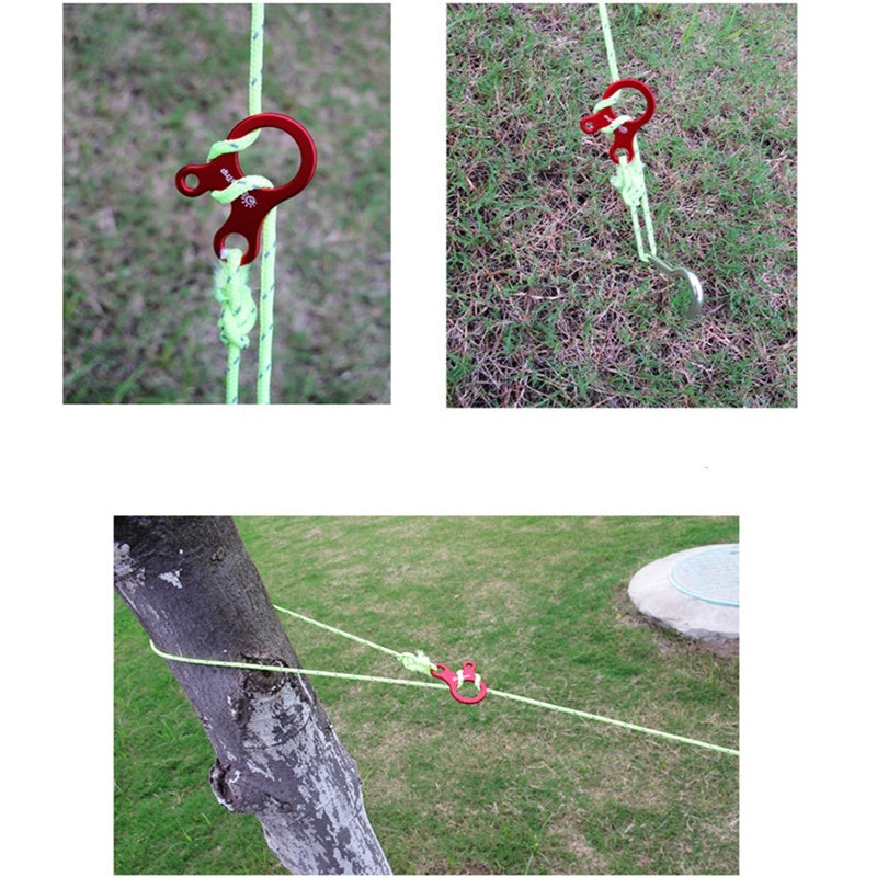 Quick Knot Tent Wind Rope Buckle Antislip Hiking Camping Tightening Hook Wind Rope Buckles