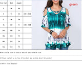 Women Summer Printed Tshirt Off Shoulder Blouse Casual Plus Size Tops