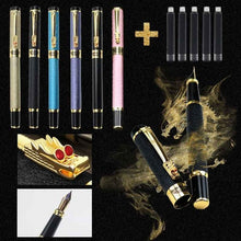 Load image into Gallery viewer, Dragon Clip Crystal Fountain Pen Business Executive Writing Metal Ink Pen Send Gift Pen