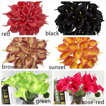 Load image into Gallery viewer, 5pcs/lot Artificial Calla Lily Flowers PU Real Touch Wedding Party Home Table Accessories Christmas Decoration.