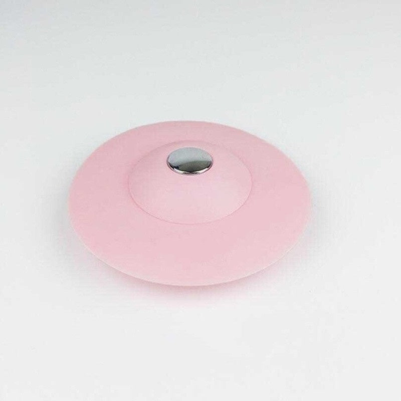 2 in 1Creative Shower Drain Stopper and Hair Catcher Silicone Sink Plug Floor Drain Strainer Cover for Bathtub and Kitchen