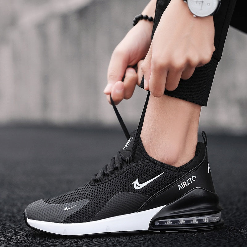 Men's fashion casual running shoes sports shoes flying woven breathable mesh shoes outdoor sports shoes air cushion tennis shoes size 38-46