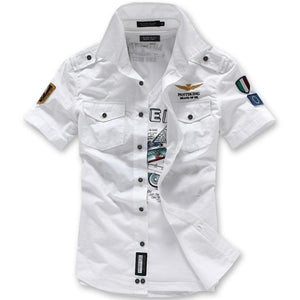 Summer Fashion Casual Air Force Short Sleeved Men's T-shirts Tees 4 Colors