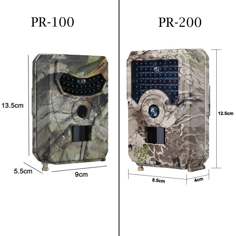 PR-100 PR-200  Hunting Camera 1080P Full HD Night Vision Hunting Trail Camera 12MP Infrared Night Vision Scouting Camera Trap Hunting Monitoring and Protecting Farm Safety
