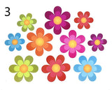 Pack of 10,Non Slip Bathtub Stickers,Adhesive Decals with Bright Colors,Ideal Large Appliques for Your Family's Safety,Suit for Bath Tub,Stairs,Shower Room & Other Slippery Surfaces.(Bright Flowers)