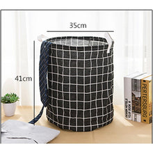 Load image into Gallery viewer, Folding Large Laundry Basket Dirty Clothes Kids Toys Bucket Storage Organizer