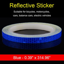 Load image into Gallery viewer, Bicycle Reflective Tape Waterproof Bike Wheel Stickers for Driving Safety Warning Sign