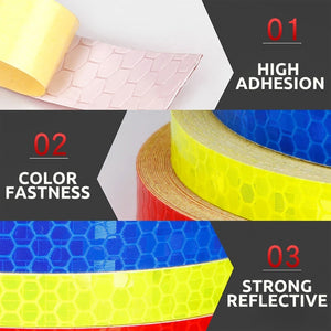 Bicycle Reflective Tape Waterproof Bike Wheel Stickers for Driving Safety Warning Sign
