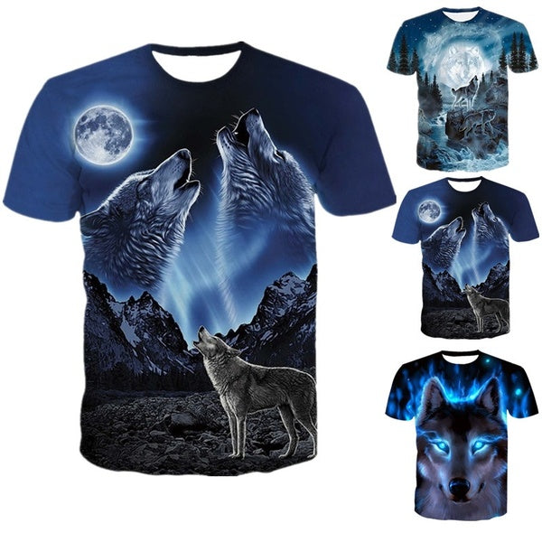 Summer Men's Casual Top 3D Digital Print Short Sleeve Round Neck T-Shirt Men's Wear.