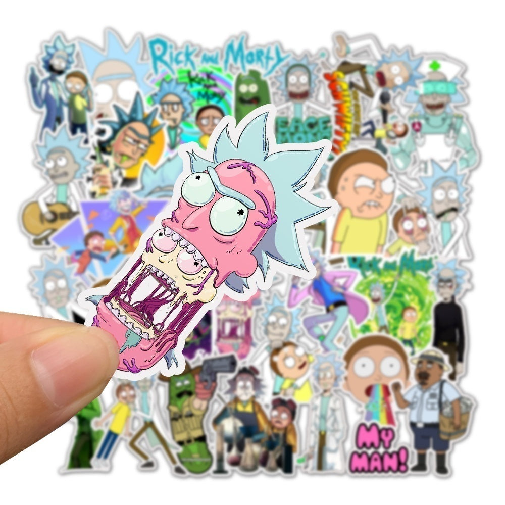 25/50pcs Cartoon Rick And Morty Stickers for Skateboard Motorcycle Luggage Sticker Fashion Decals DIY Stickers