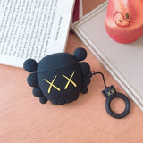 4 Colors New Arrival XX Bear Hard PC Case Protector for Airpods Wireless Earphone Earbuds Case
