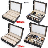2/6/10/12 Slot Watch Storage Box Organizer Watch Display Case Pu Leather Watch Display Box Watch Display box